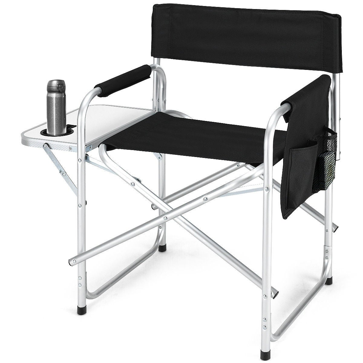 Shop Costway Folding Director S Chair Side Table Outdoor Camping