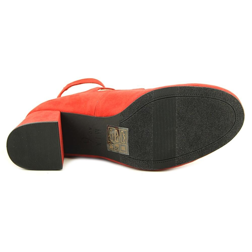 a62ebe5c4ad Shop Mix No 6 Deima Women Round Toe Suede Red Heels - Free Shipping Today -  Overstock - 20006601