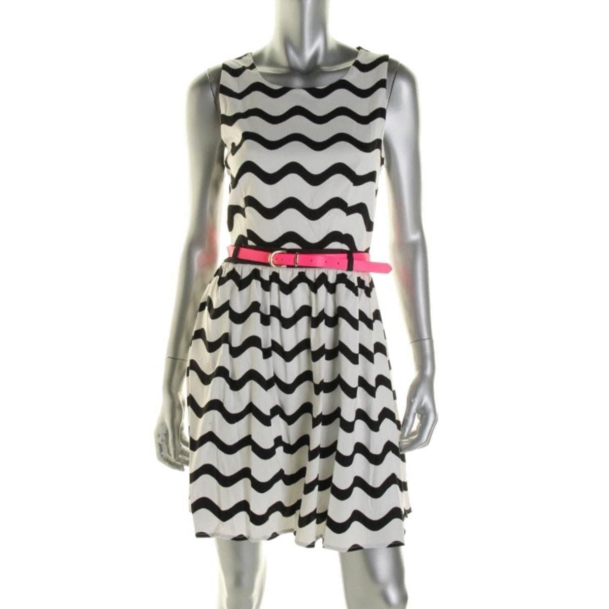 Shop City Studio Womens Juniors Casual Dress Striped Sleeveless - 9 - Free  Shipping On Orders Over  45 - Overstock.com - 19989999 b4b0fb9b6