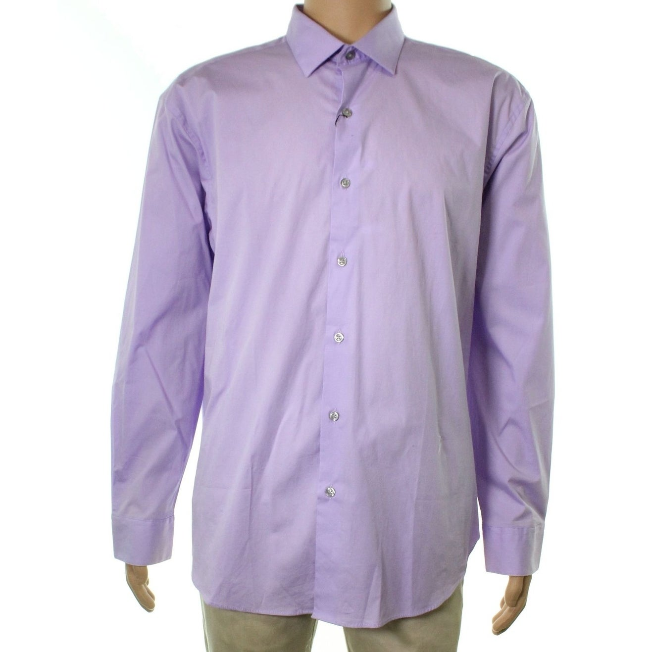 0987b3649 Alfani Red Fitted Solid Performance Dress Shirt – EDGE Engineering ...