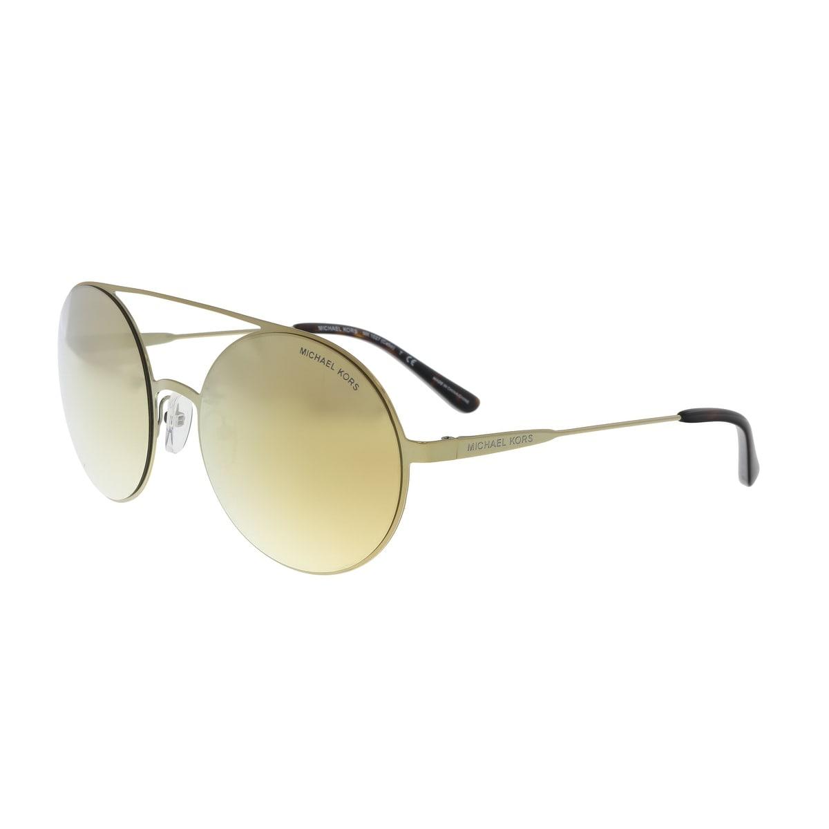 4f968d6cacb7 Shop Michael Kors MK1027 11937P Gold Round Sunglasses - No Size ...