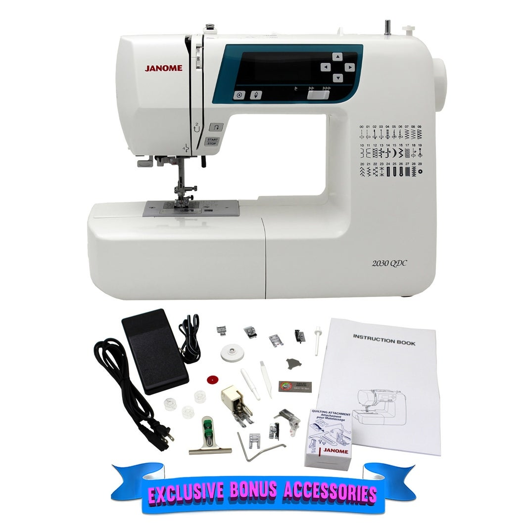 Shop Janome 2030QDC-B Computerized Quilting and Sewing Machine with Bonus  Quilt Kit - Free Shipping Today - Overstock.com - 17338172