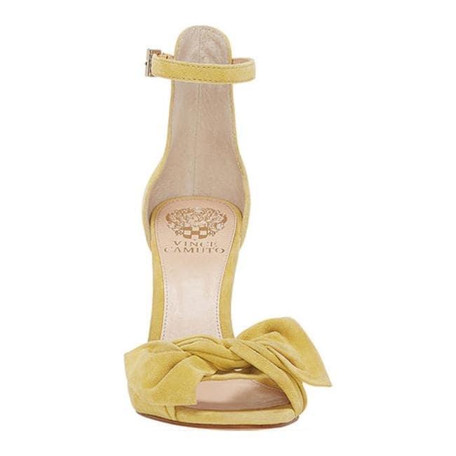 d408ad567c6 Shop Vince Camuto Women s Carrelen Heeled Sandal Banana Split True Suede -  Free Shipping Today - Overstock - 26405897
