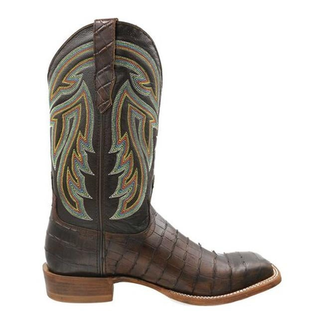 d40552f30a8 Twisted X Boots Men's MRAL018 Rancher Cowboy Boot Chocolate Gator Print  with Cuts/Chocolate Leather