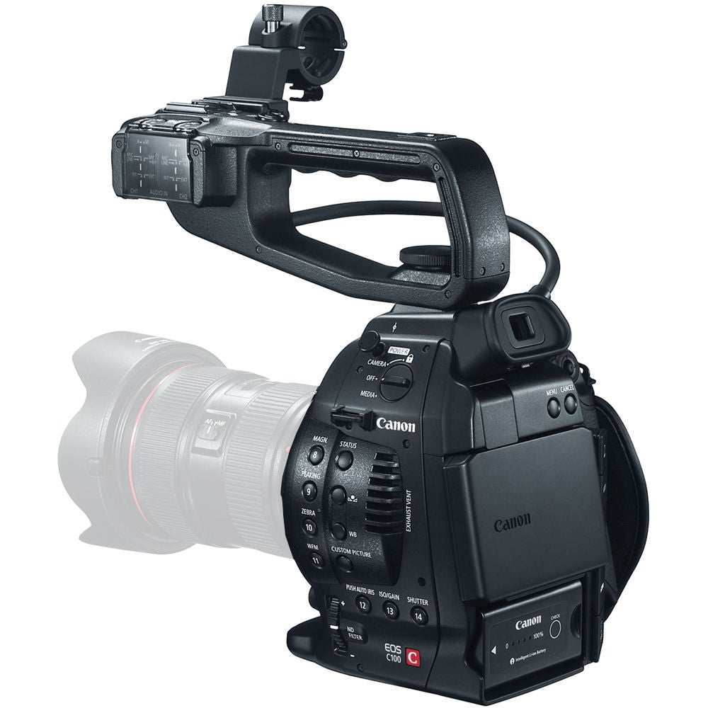 Canon EOS C100 Cinema EOS Camera with Dual Pixel CMOS AF (Body Only) + Pro  Accessories Bundle
