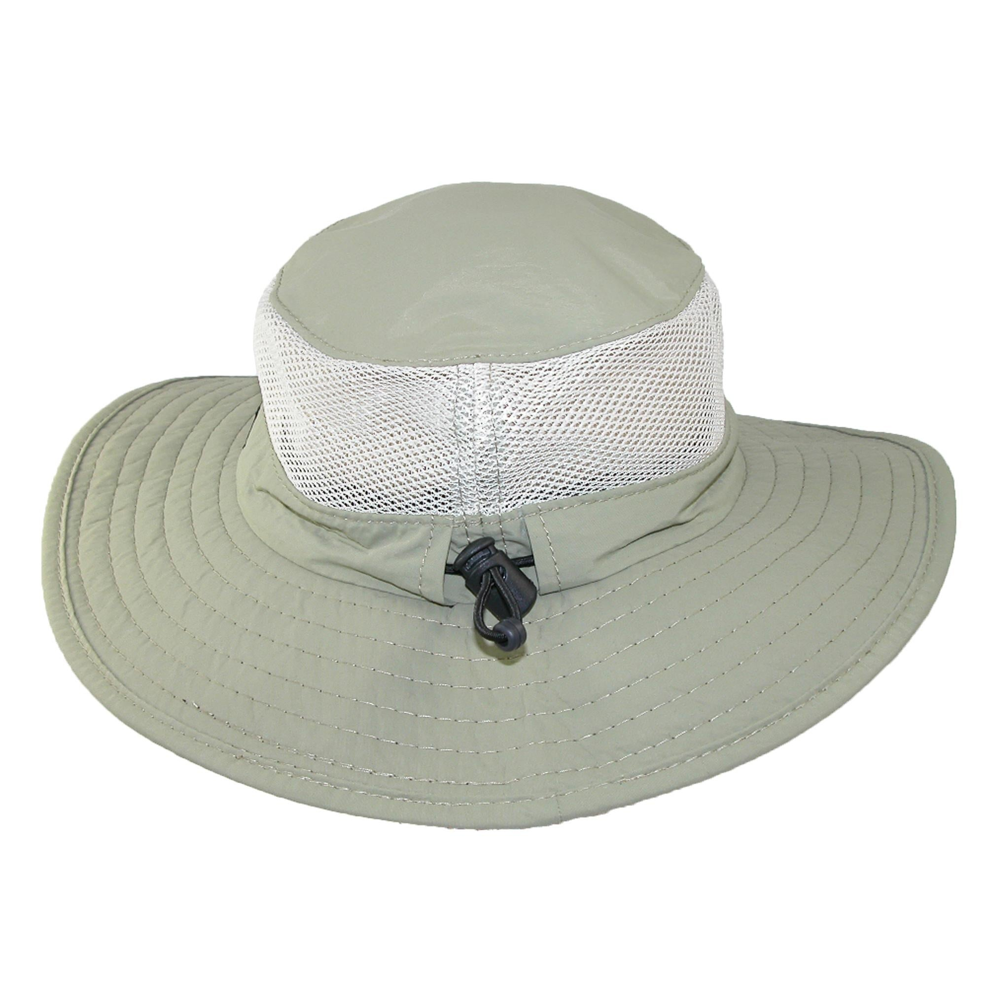 2fdaba220f73d Shop Dorfman Pacific Wide Brim Sun Supplex Hat with Mesh Sides - Free  Shipping On Orders Over  45 - Overstock.com - 14282057
