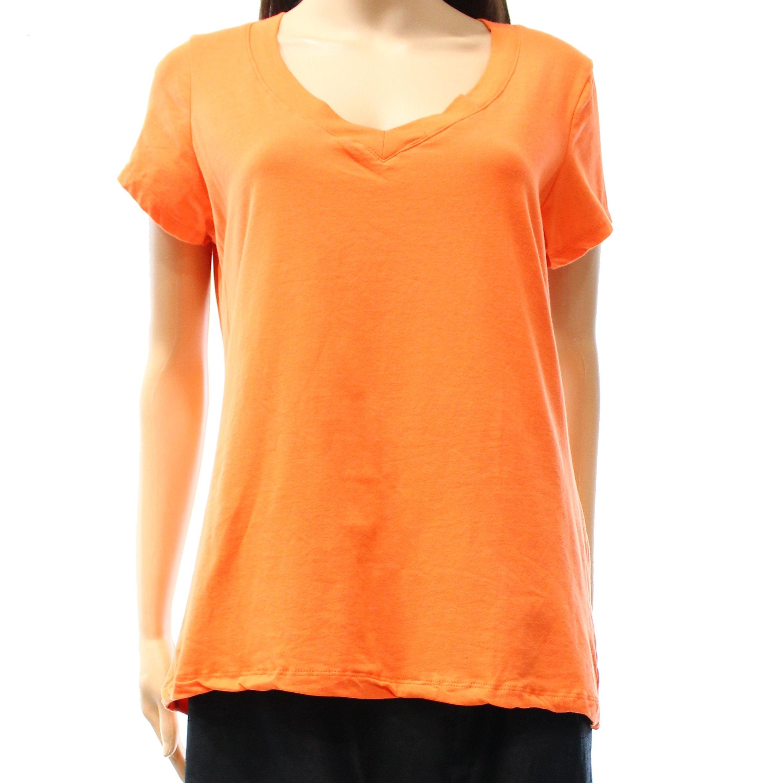 Shop Ambiance Apparel New Orange Women S Size 2xl Plus V Neck Tee