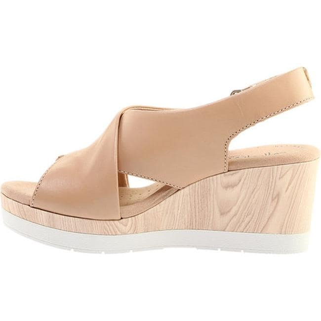 c8278219e227 Shop Clarks Women s Cammy Pearl Slingback Wedge Sandal Blush Leather - On  Sale - Free Shipping Today - Overstock - 27347260