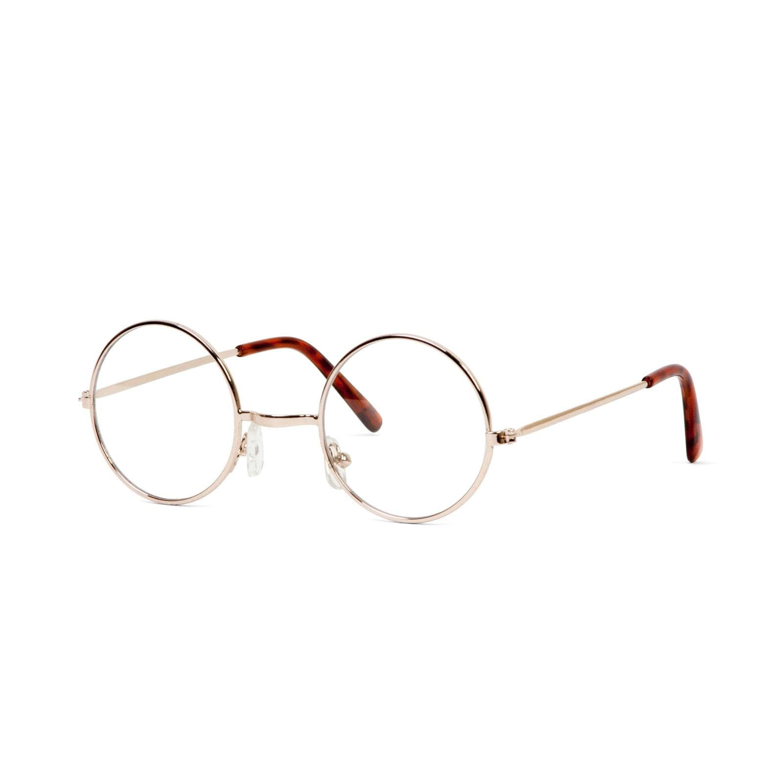 d2baa6ab37c Shop Circular Gold Frame Clear Lens Glasses with Free Microfiber Case - One  size - Free Shipping On Orders Over  45 - Overstock.com - 16947848