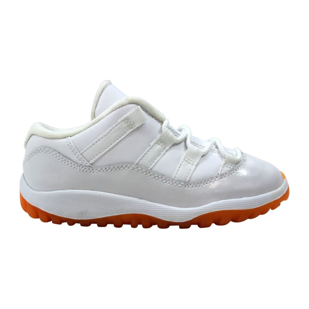 premium selection 4ce90 ee964 Nike Air Jordan XI 11 Retro Low White/Citrus 645107-139 Toddler