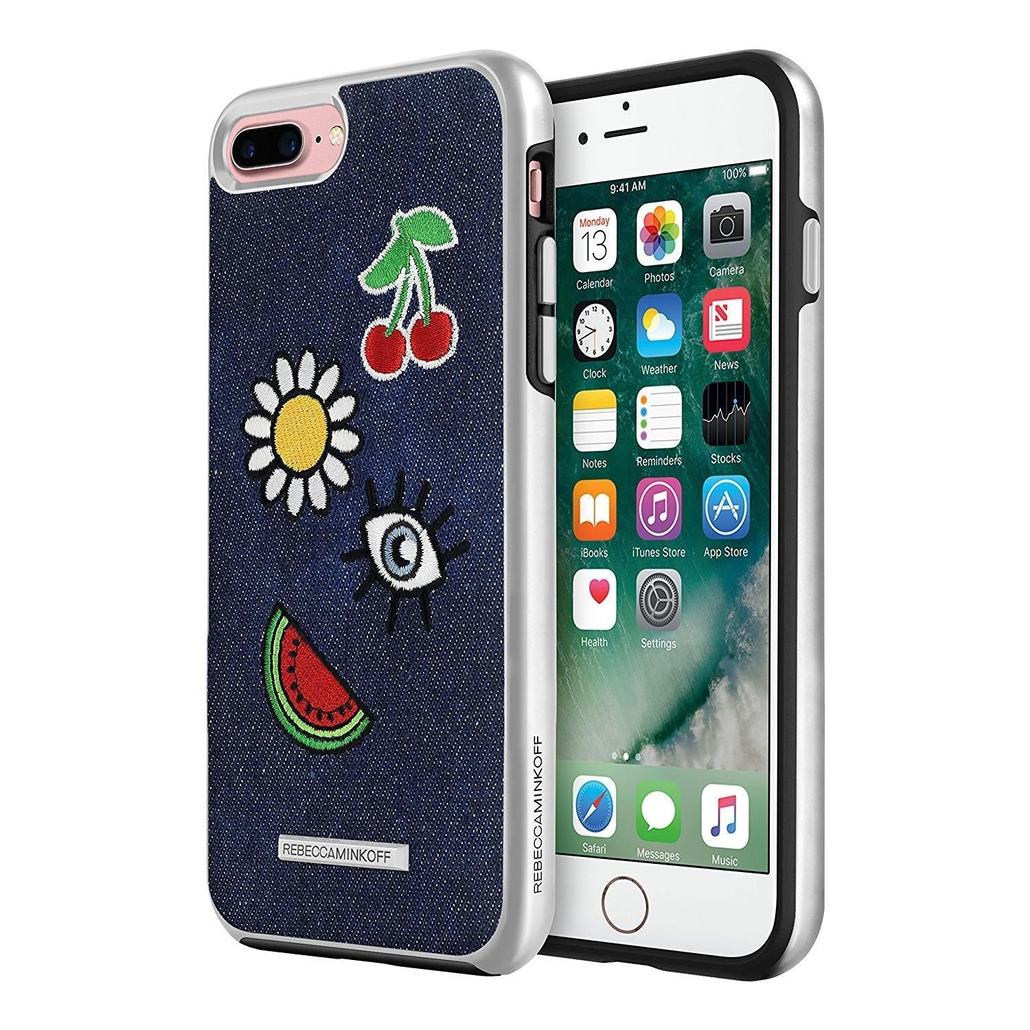 buy online 59ae2 49baa Rebecca Minkoff Luxe Double Up Case for iPhone 8 Plus / iPhone 7 Plus -  Multi Patches/Mid Washed Denim