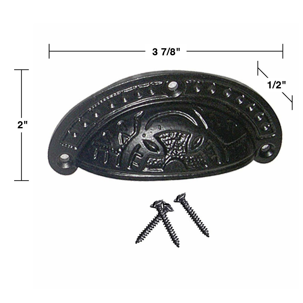 6 Cabinet Or Drawer Bin Pull Black Iron Cup Pulls 3 7 8 Inch On Free Shipping Orders Over 45 14054903