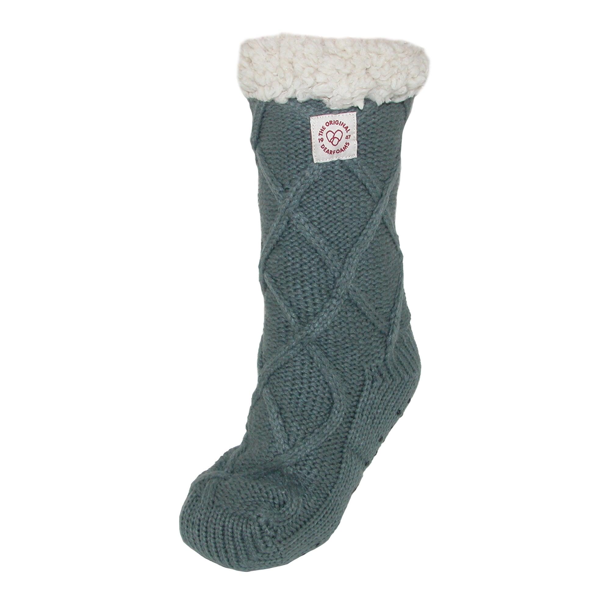 Shop Dearfoams Womens Lattice Cable Knit Slipper Socks Free