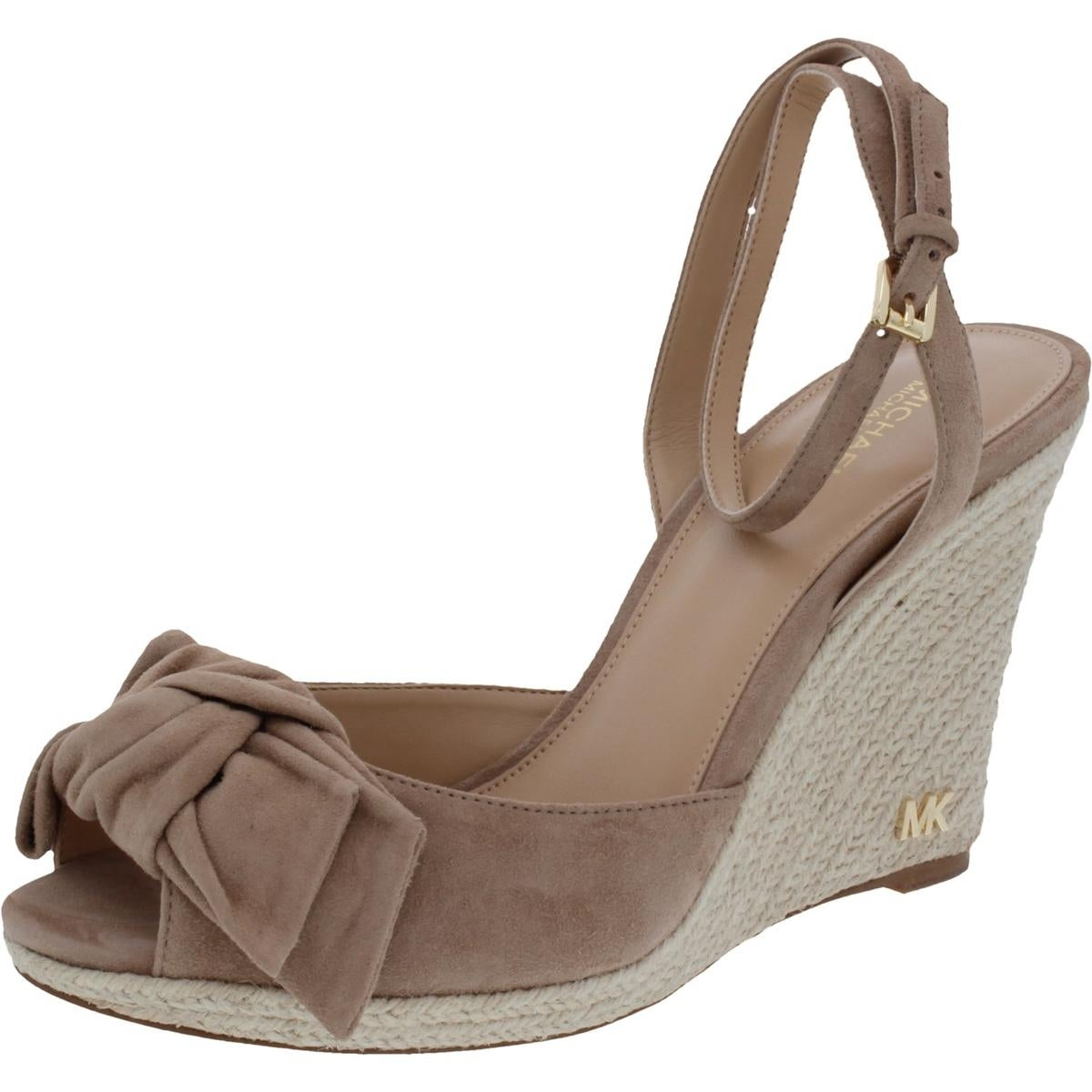 f02cc4e8e837 Shop MICHAEL Michael Kors Womens Willa Wedge Sandals Suede Peep Toe - Free  Shipping Today - Overstock - 21459231