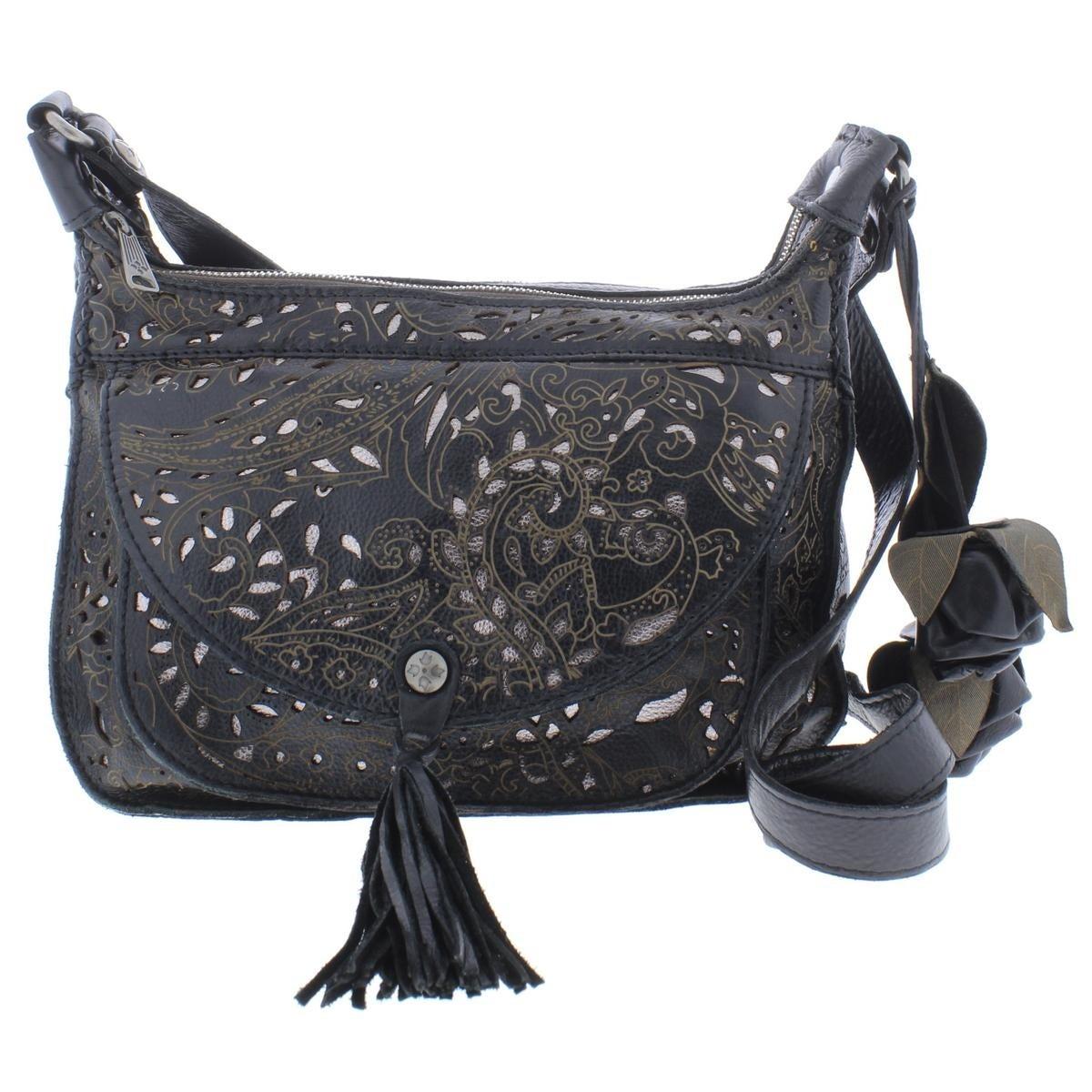 160944bb6c5f Patricia Nash Womens Camila Crossbody Handbag Leather Laser Lace - LARGE