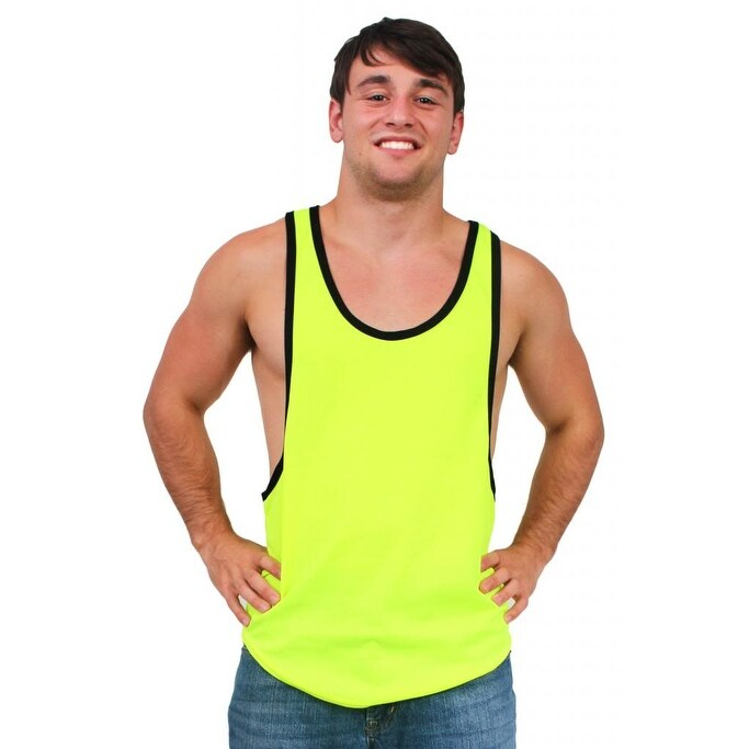 524763356fbbc9 Shop Men s Dri Fit Tank Top Open Side Racer Back Gym Workout Rib Ringer Muscle  Shirt - Free Shipping On Orders Over  45 - Overstock - 12147398