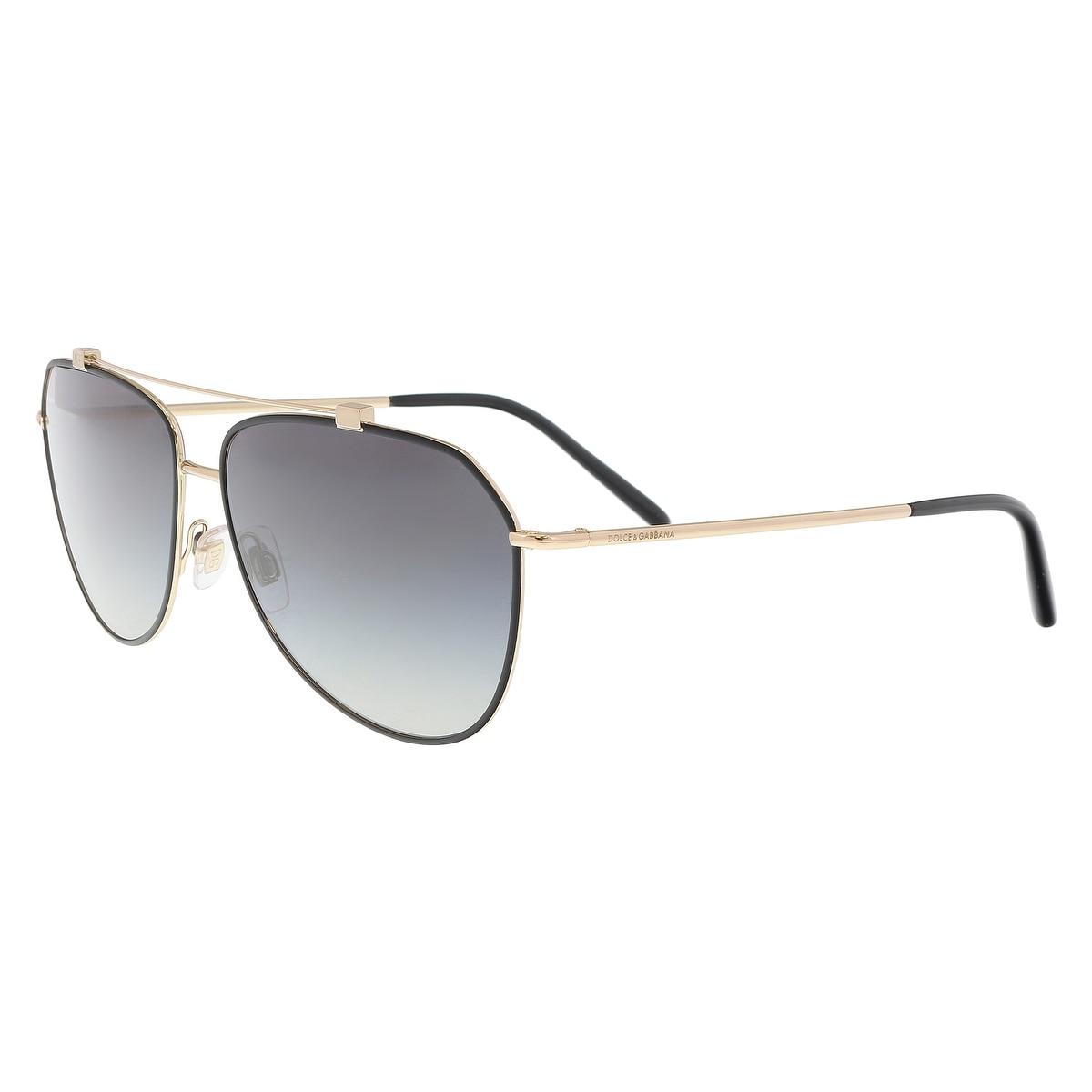 57776513c9 Dolce   Gabbana DG2190 12968G Matte Black Aviator Sunglasses - 59-13-140