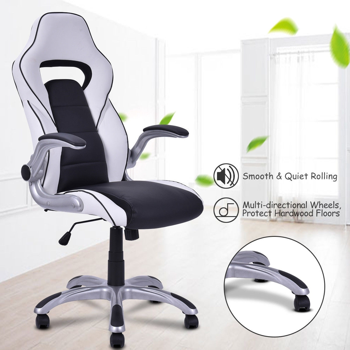 Costway High Back Executive Racing Style Office Chair Gaming