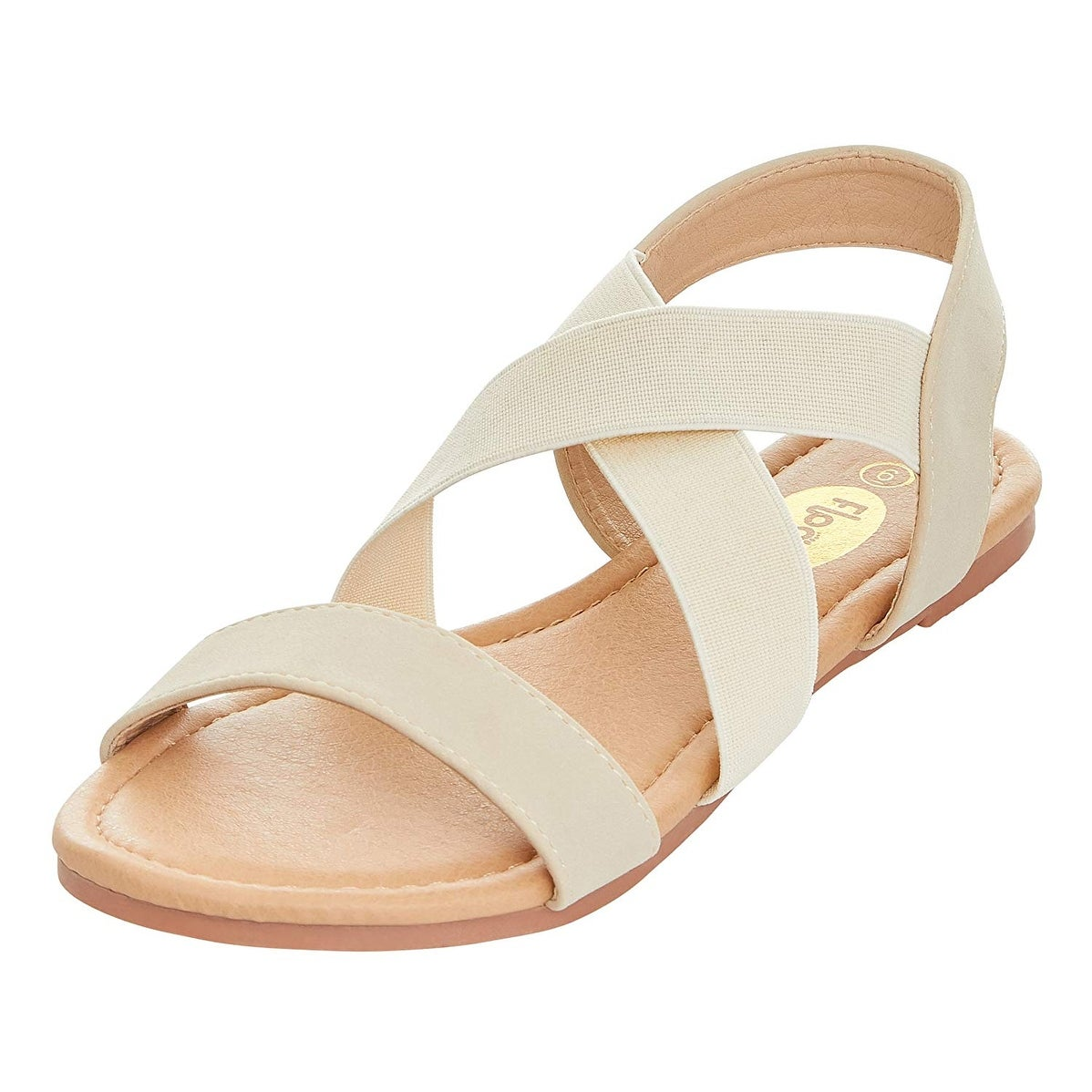 c55383cca62 Shop Floopi Womens Summer Criss Cross Slingback Elastic Strap Flat Sandal -  10 - Ships To Canada - Overstock - 23434888