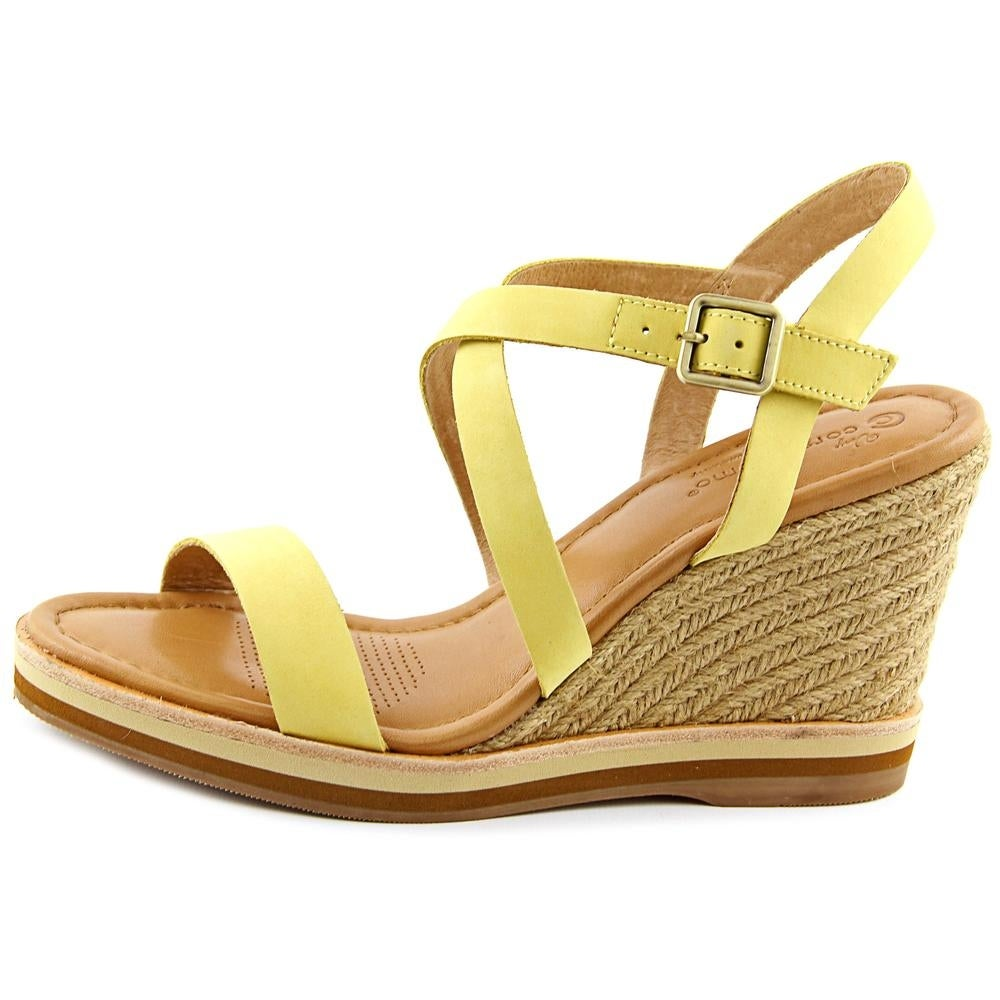 d058e9c6039 Shop Corso Como Gladis Women Open Toe Leather Yellow Wedge Sandal - Free  Shipping On Orders Over  45 - Overstock - 13562646