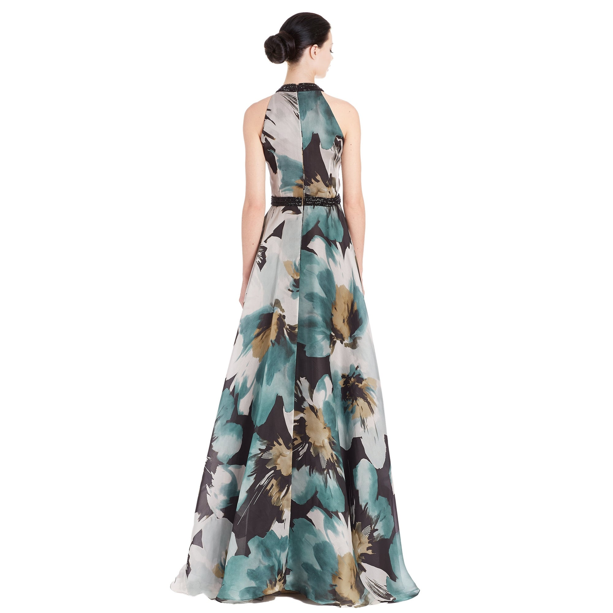 88a4049d85b00 Shop Carmen Marc Valvo Embellished Floral Silk Organza Evening Gown Dress -  14 - Free Shipping Today - Overstock - 18610497