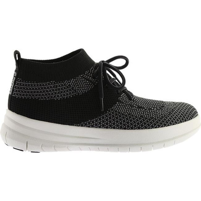 b4515a9293a3 FitFlop Women s F-Sporty Uberknit High Top Sneaker Black Charcoal Uberknit