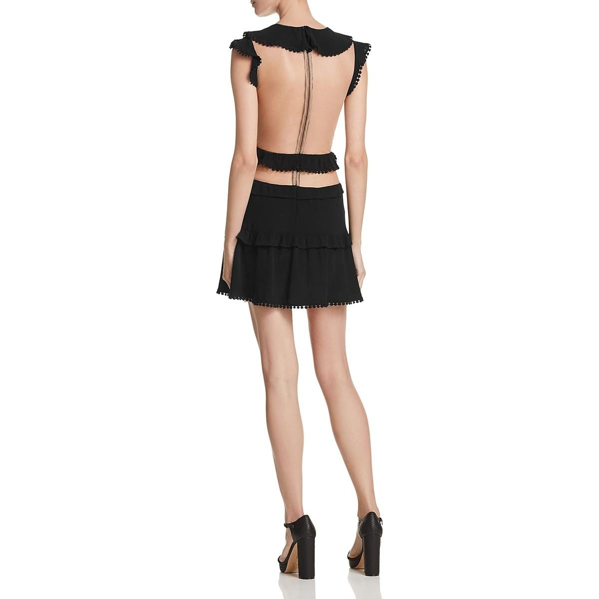 8dd4d48d4f5f Shop For Love & Lemons Womens Laney Lou Mini Dress Embroidered Mesh - Free  Shipping Today - Overstock - 21491190