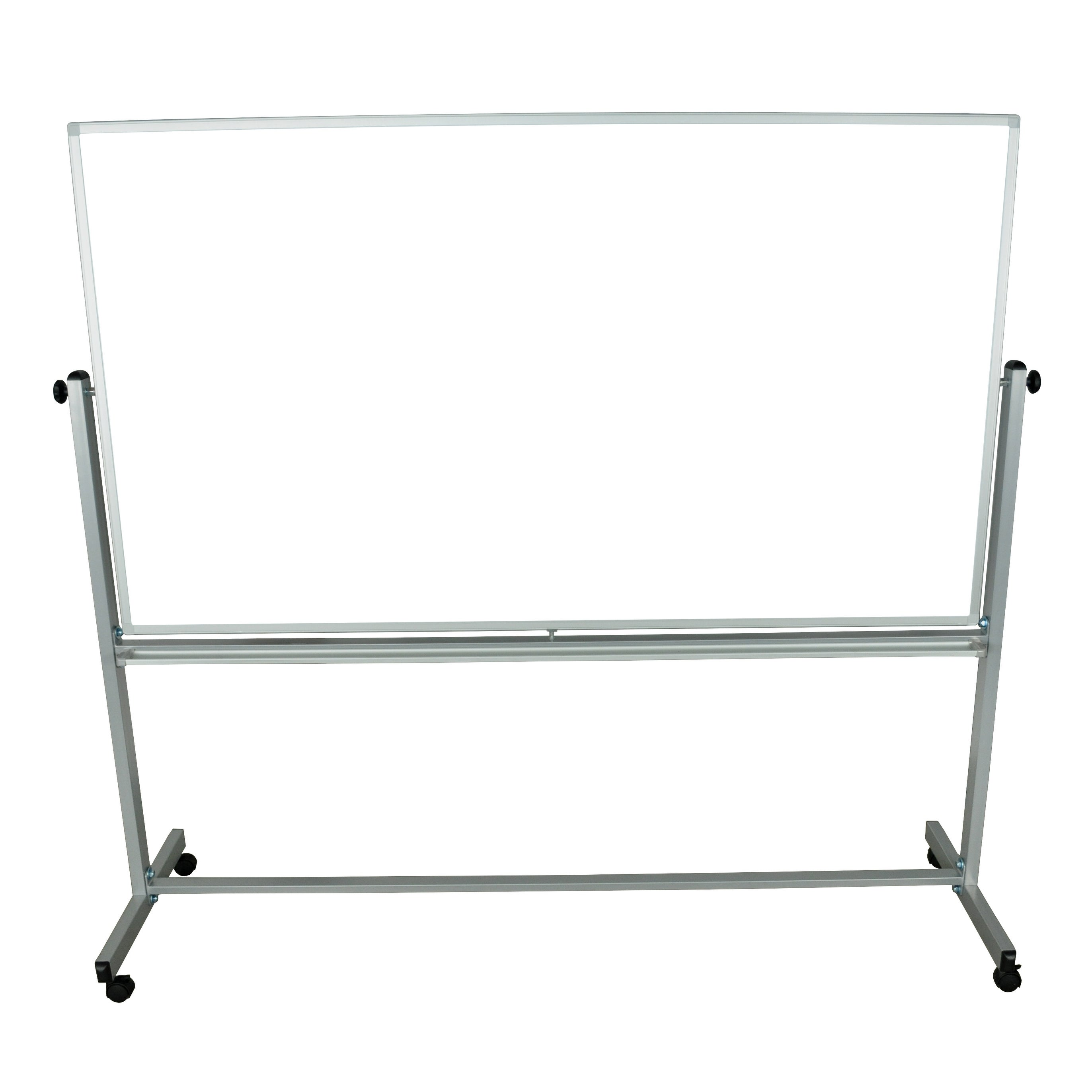 Luxor Mobile Dry Erase Double Sided Magnetic Whiteboard - 72\