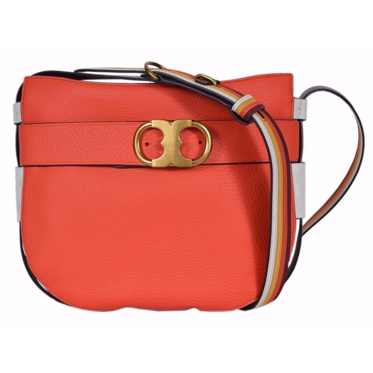 931a58de5ff Shop Tory Burch Samba Red Leather Gemini Link Crossbody Purse Bag ...