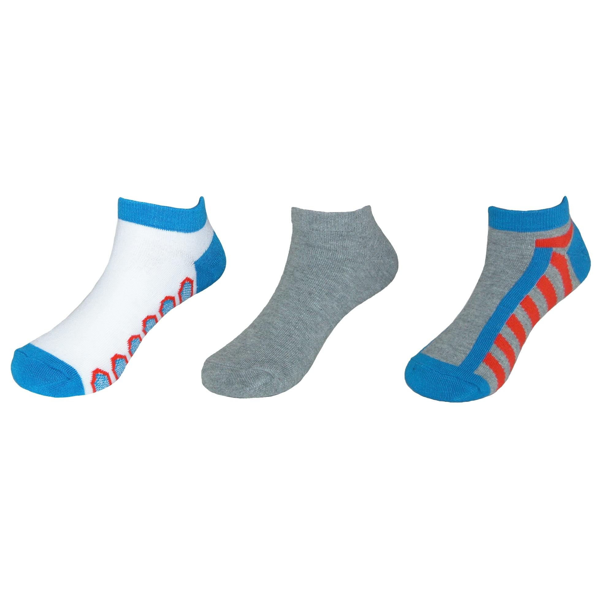 71d43b0128 Beverly Hills Polo Club Boy's Low Cut Athletic Socks (3 Pair Pack)