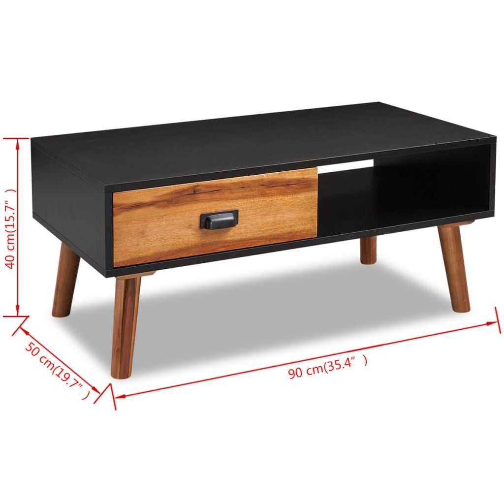 Vidaxl Solid Acacia Wood Coffee Table 35 4 X19 7 X15 Free Shipping Today 18965242
