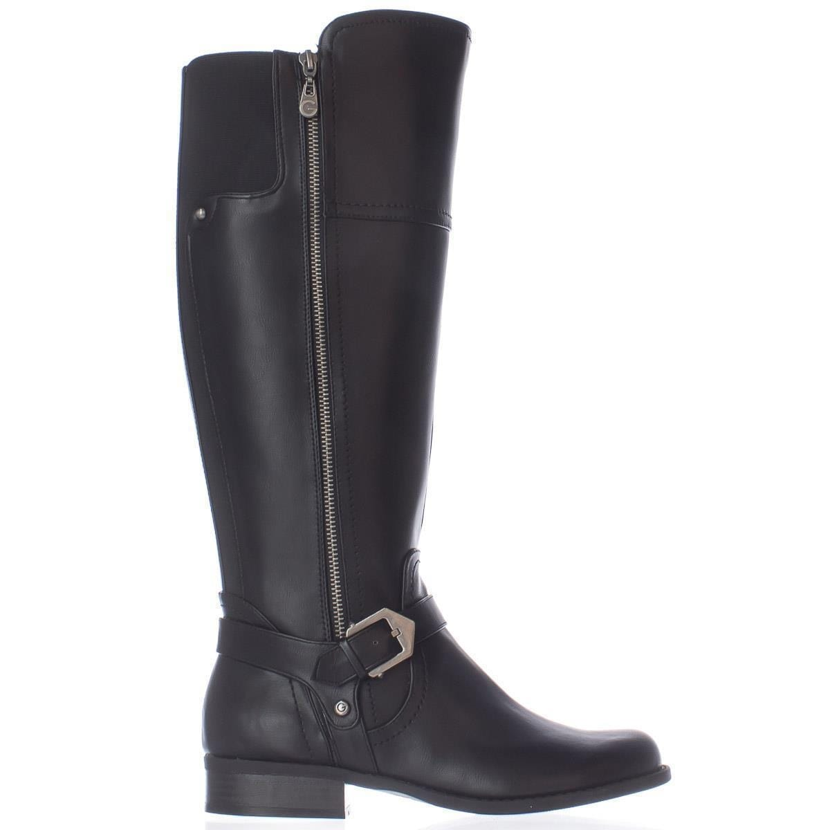 Shop G By Guess Hailee Riding Boots Black Free Shipping Today