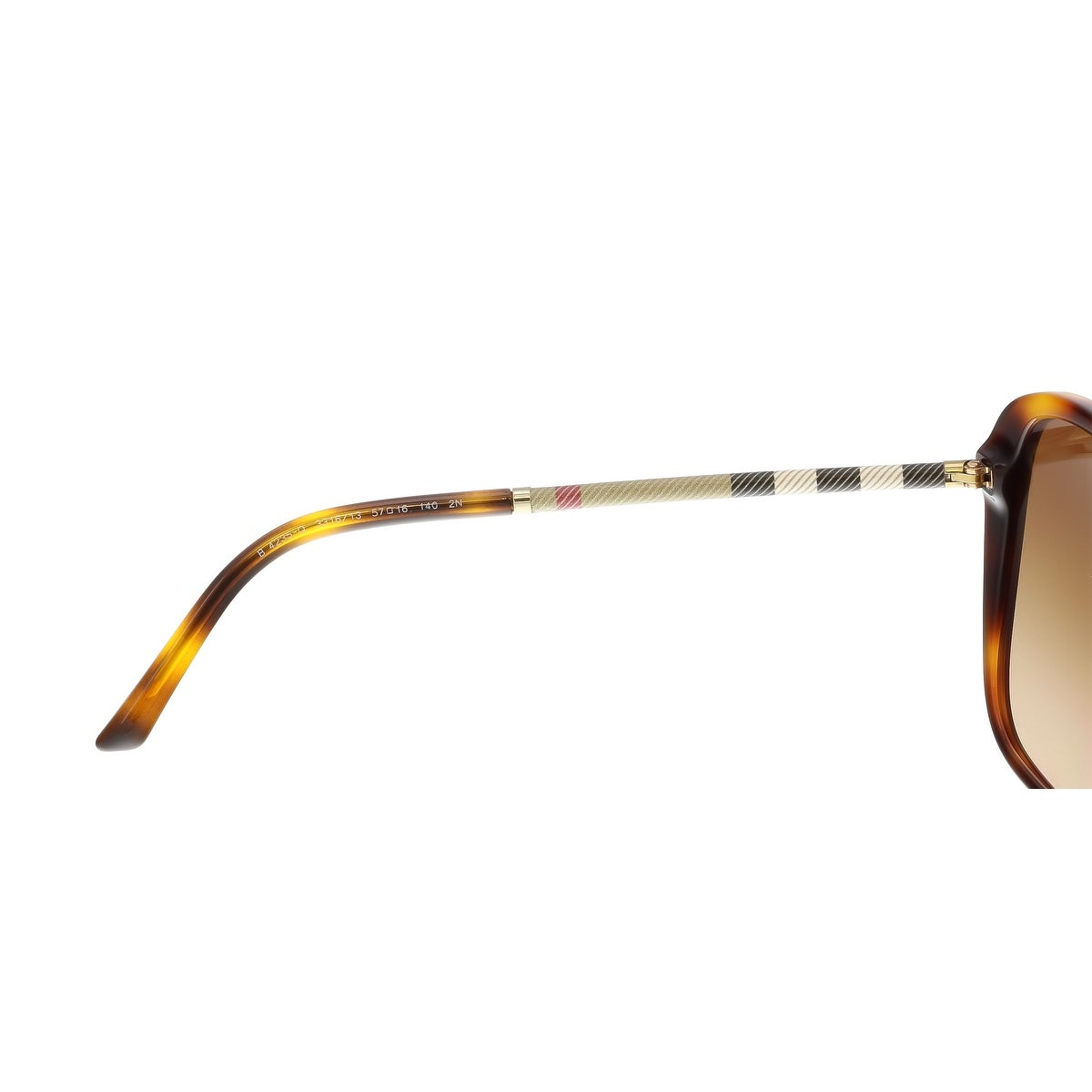 fdc713af8bbb Shop Burberry BE4235Q 331613 Ligth Havana Square Sunglasses - 57-16-140 -  Ships To Canada - Overstock - 15408922