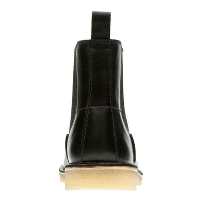 a134da94228 Clarks Men's Desert Peak Chelsea Boot Black Cow Full Grain Leather