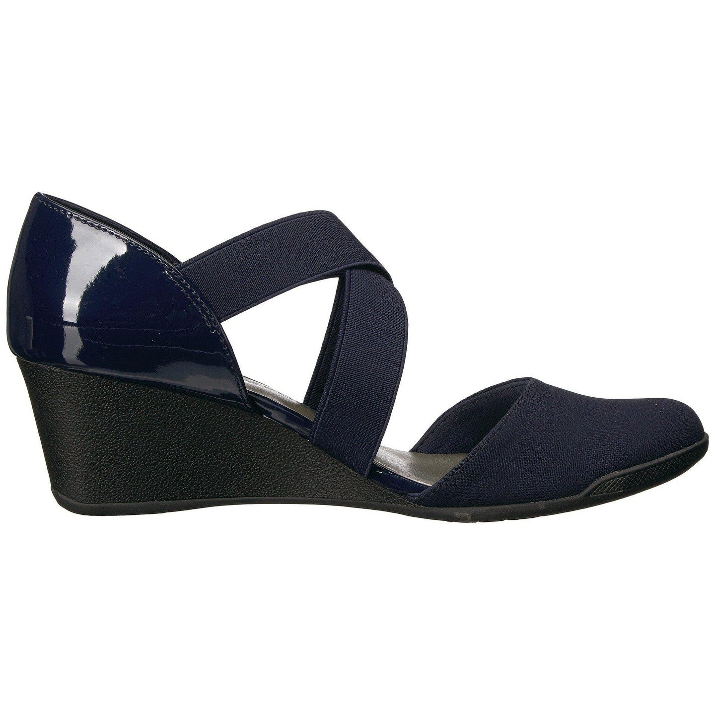5f14d225606 Shop Anne Klein Womens Teaberry Fabric Closed Toe Casual Platform Sandals -  Free Shipping Today - Overstock - 22342744