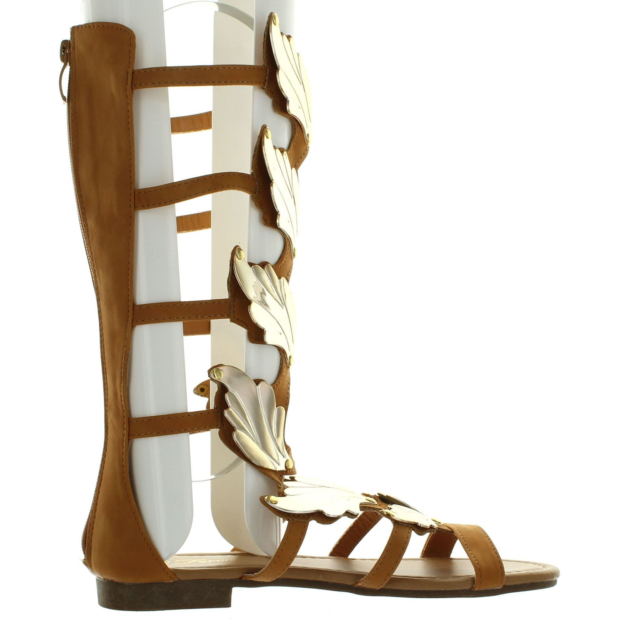 9bedc857011f Shop Forever Link Womens Kesha-72 Faux Nubuck Winged Gladiator Fashion  Sandals - Free Shipping On Orders Over  45 - Overstock - 14397593