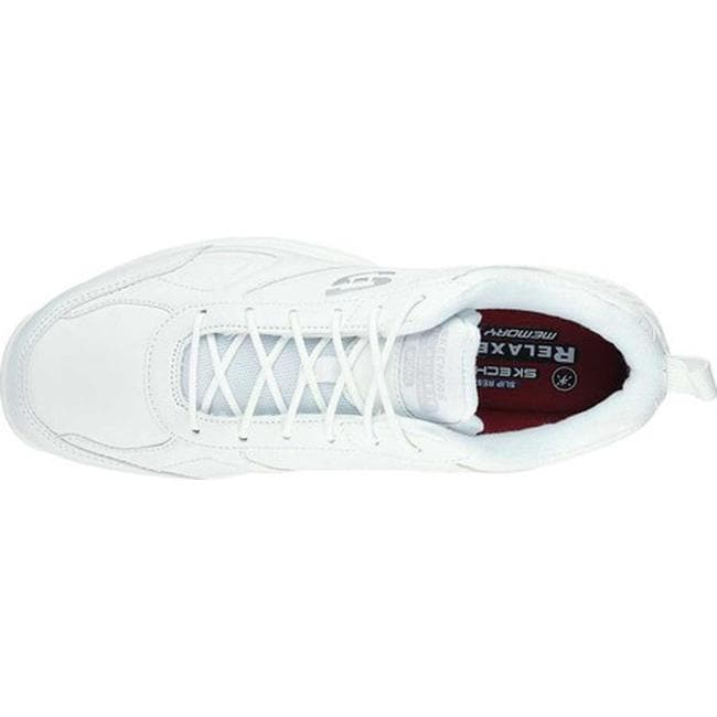 0ec5bab50ad Shop Skechers Men s Work Relaxed Fit Dighton Slip Resistant Sneaker White -  On Sale - Free Shipping Today - Overstock - 17669956