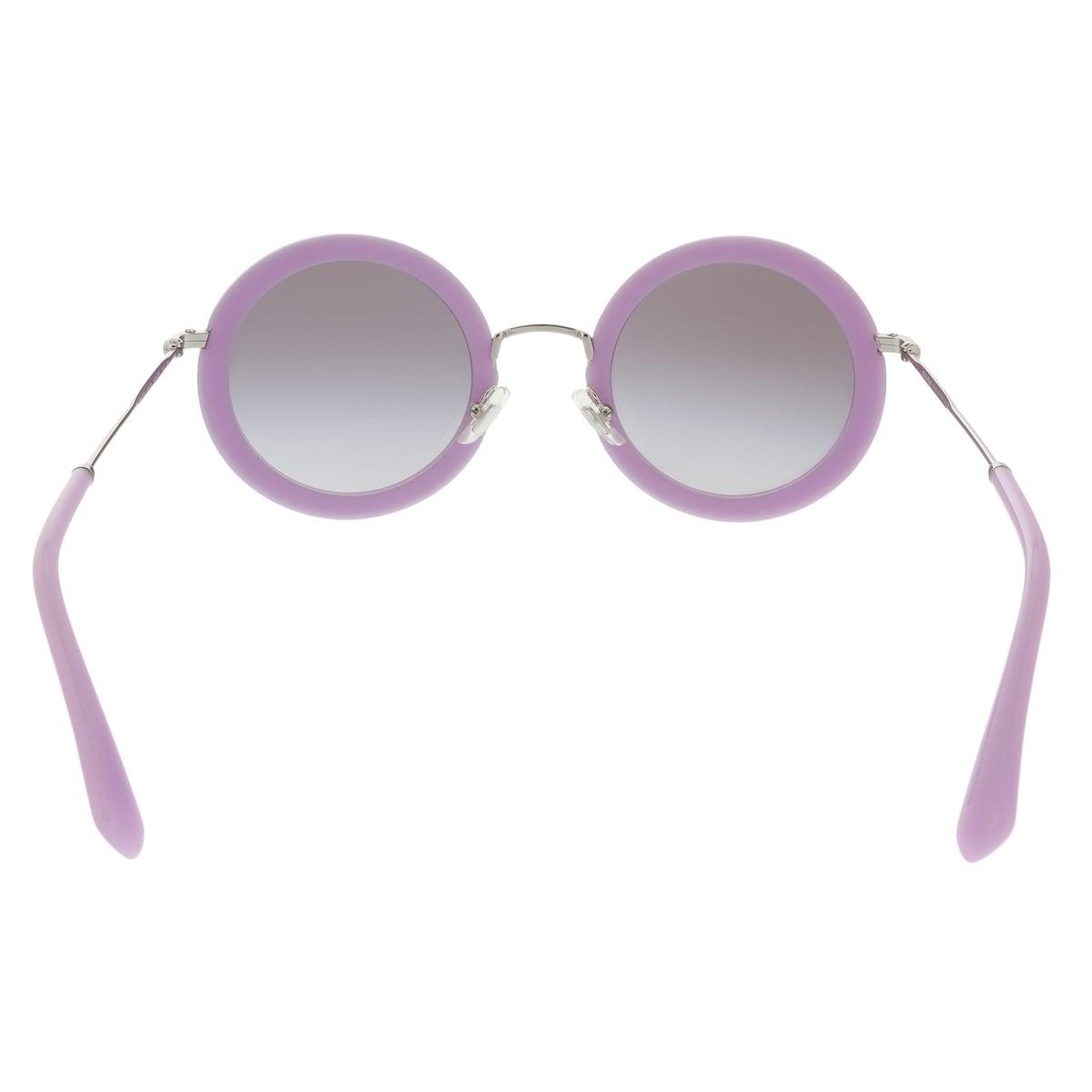 d3d6054d97656 Shop Miu Miu MU 59US 136300 Opal Lilac Round Sunglasses - 48-26-140 - Free  Shipping Today - Overstock - 27793659