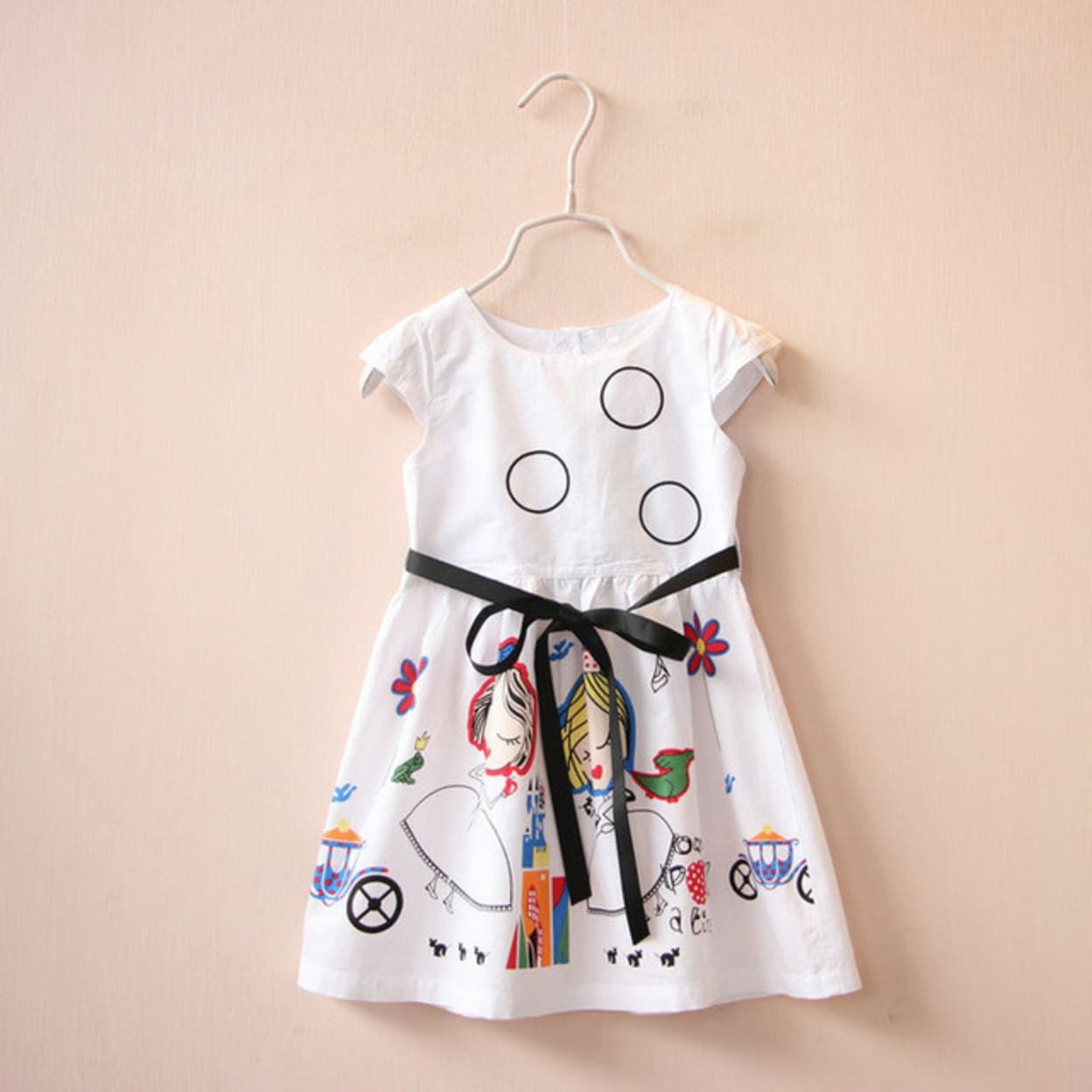 Shop Girls Summer Dress Kids Clothes Brand Baby Girl Dress with Sashes Robe  Fille Character Princess Dress Children Clothing - Free Shipping On Orders  Over ... a8095aa064ba