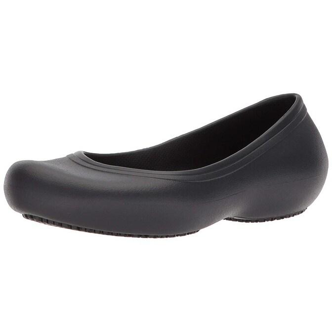 5bcdd33b7c506 Crocs Women's Crocs at Work Slip Resistant Flat, Great Restaurant or Chef  Shoe