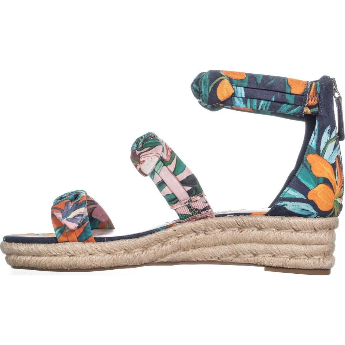 b993e43b84 Shop Nine West Allegro Bow Espadrilles Sandals, Navy Multi - On Sale - Free  Shipping Today - Overstock - 22809187