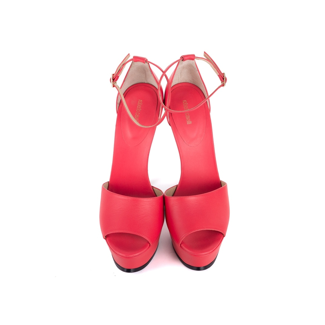 2be399b076a9b Shop Roberto Cavalli Womens Pink High Heels Sandals Pumps - Free Shipping  Today - Overstock - 21957308