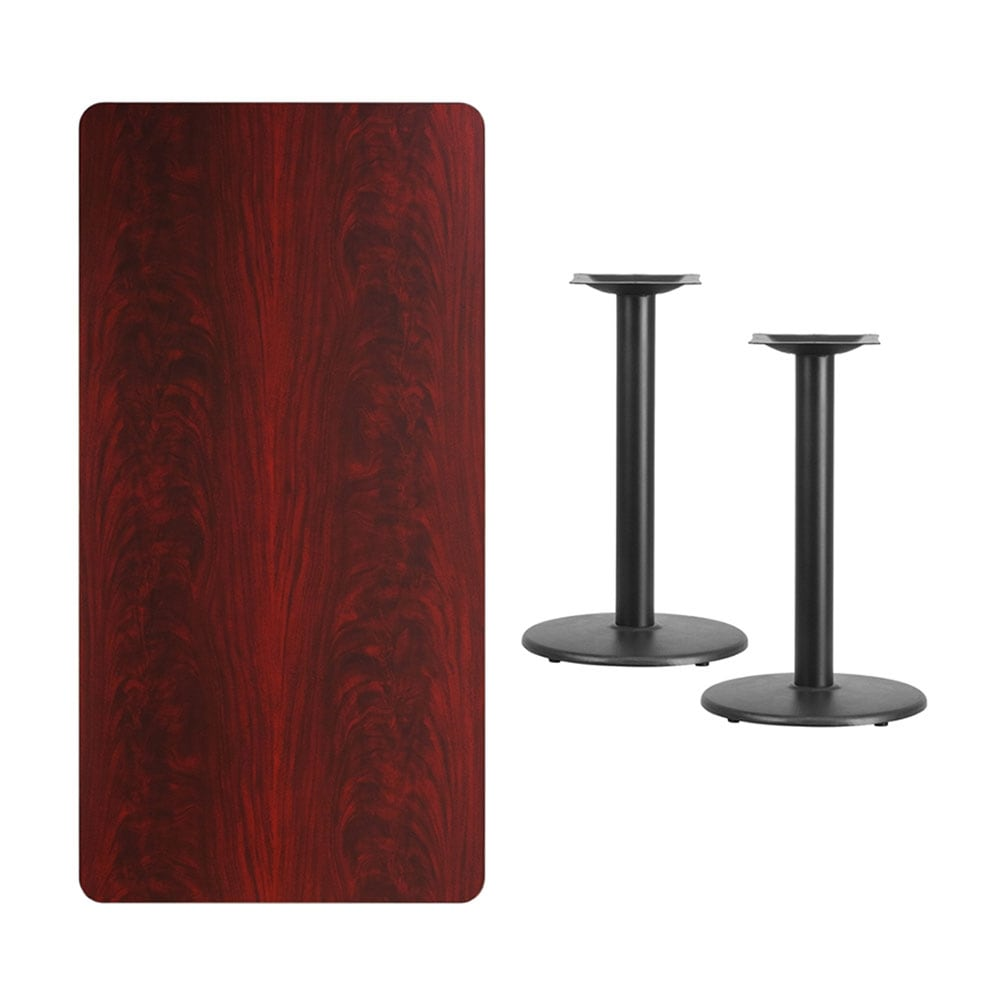 Shop Offex 30 X 60 Rectangular Mahogany Laminate Table Top With