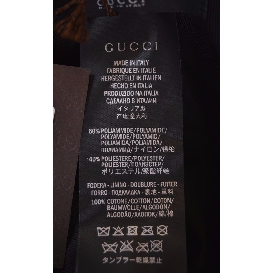 ebe74173d947d Shop Gucci Men s 387578 Black Nylon GG Guccissima Web Stripe Baseball Cap  Hat L - Free Shipping Today - Overstock - 12090980