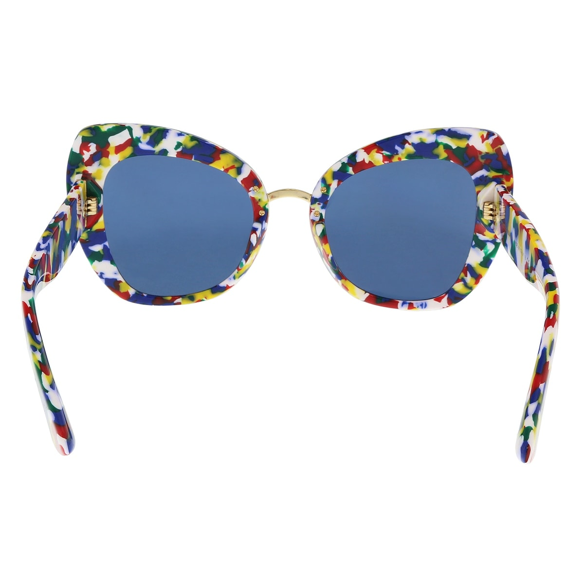 506a5373878 Shop Dolce   Gabbana DG4319 317672 Multicolor Cube Cat Eye Sunglasses -  Multi - 51-22-140 - Free Shipping Today - Overstock - 21157792