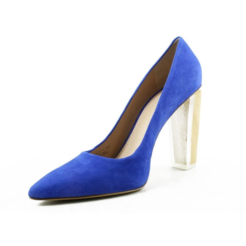 ffd5e40b0a6e Shop Tory Burch Womens Silvana Blue Pumps Size 7.5 - Free Shipping Today -  Overstock - 23132312