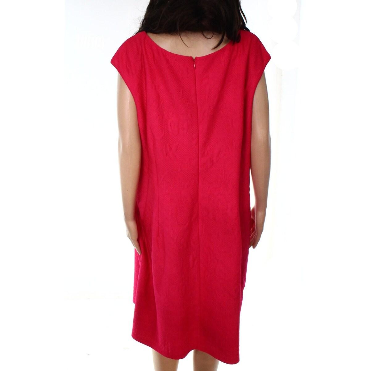 dad0d589fb2 Shop Taylor Pink Womens Size 20W Plus Jacquard Pleated Sheath Dress ...
