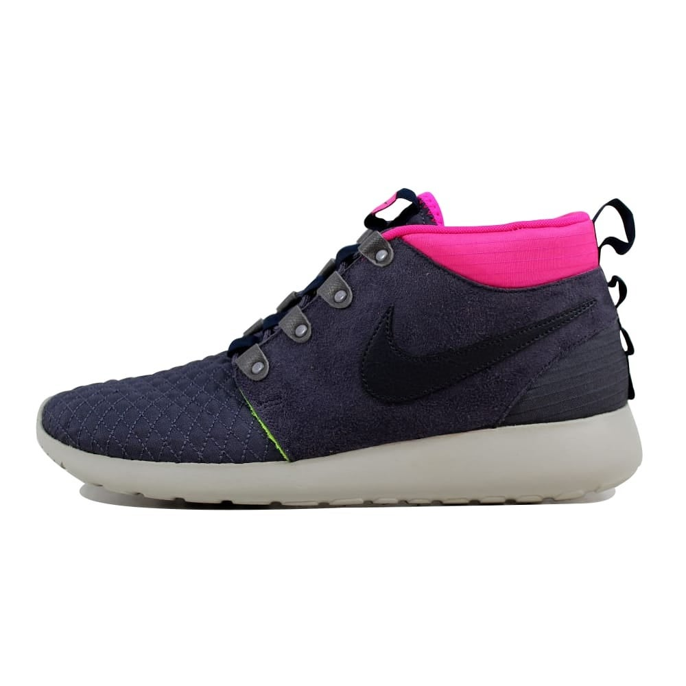 f6925719d82bd Shop Nike Men s Roshe Run Sneakerboot Gridiron Dark Obsidian-Pink  Floral-Volt Size 10.5 - Free Shipping Today - Overstock.com - 21893608