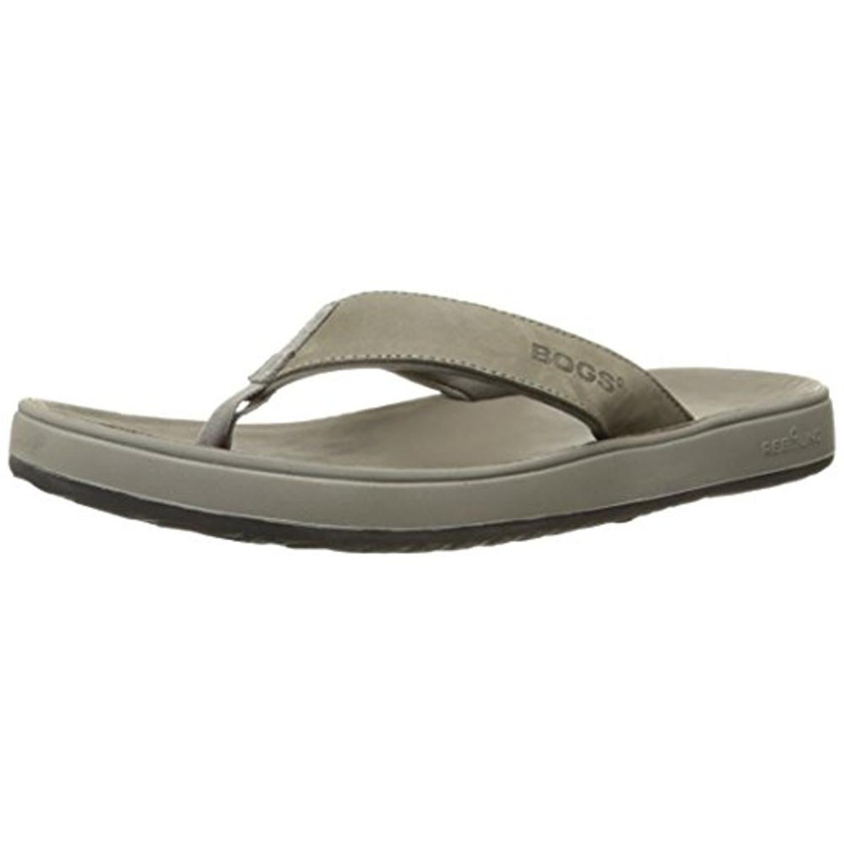 03c709020a54 Shop Bogs Mens Hudson II Flip-Flops Leather Thong - Free Shipping On Orders  Over  45 - Overstock.com - 13299839