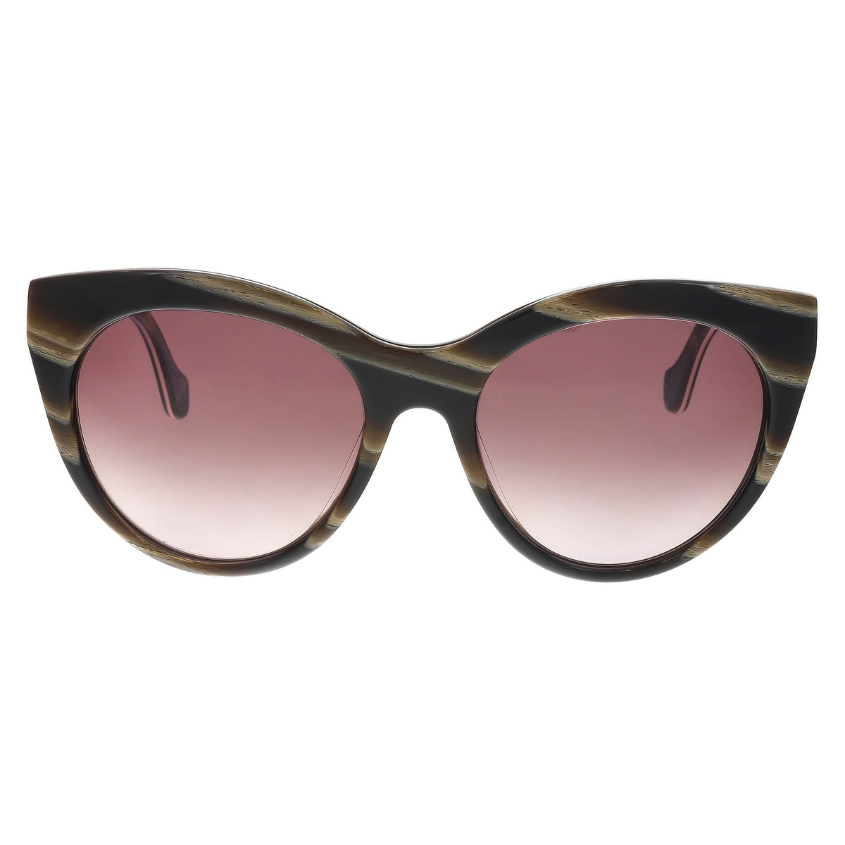 80c37416b2c6 Shop Balenciaga BA0051/S 62Z Brown/Tan Cat Eye Sunglasses - 54-18-140 -  Free Shipping Today - Overstock - 19833265